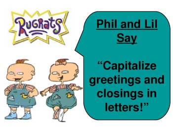 Rugrats Capitalization Rules Posters