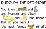 Ruldolph the Red-Nosed Reindeer Lyrics Poster