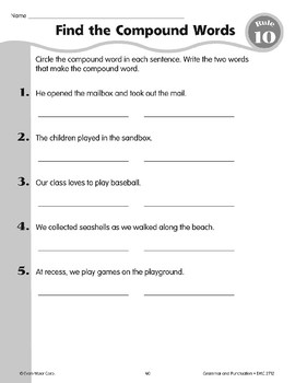 Rule 10: Compound Words are two words put together