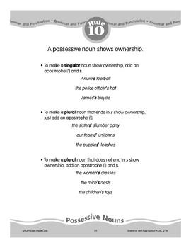 Rule 10: Possessive Nouns