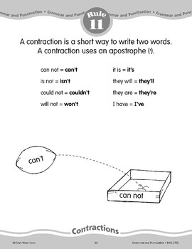 Rule 11: Contractions are a short way to write two words.