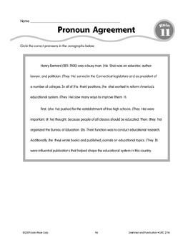 Rule 11: Pronouns & Antecedents