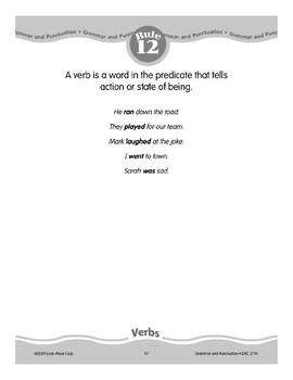 Rule 12: Verbs tell action or state of being