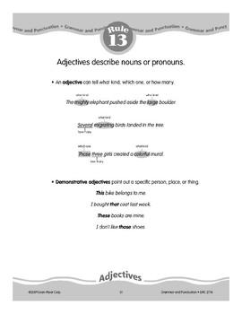 Rule 13: Adjectives Describe Nouns or Pronouns