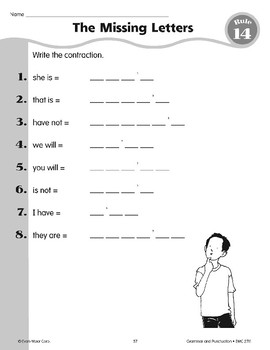 Rule 14: Contractions are a short way to write two words