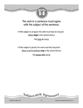 Rule 14: Subject-Verb Agreement