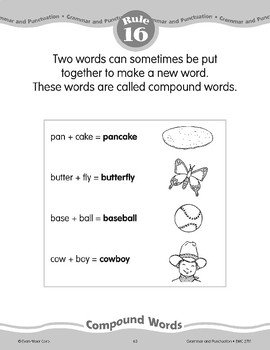 Rule 16: Compound Words--Putting two words put together to make a new word