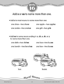 "Rule 16: Plural Nouns (Add ""s"" or ""es"")"