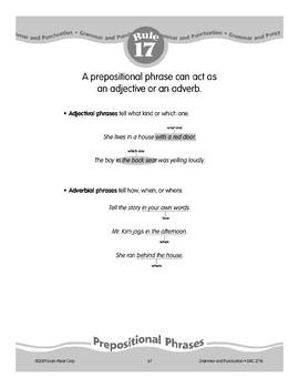 Rule 17: Prepositional Phrases