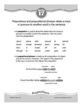 Rule 17: Prepositions Relate Nouns to Other words in Sentences