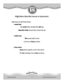 Rule 18: Adjectives Describe Nouns or Pronouns