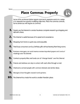 Rule 18: Comma Usage (Words in a Series)