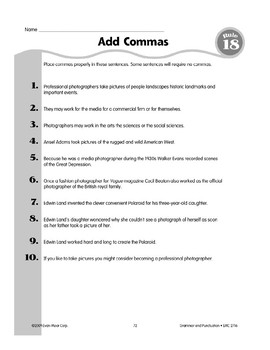 Rule 18: Comma Usage (series, equal adjectives, dependent clauses)