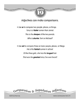 Rule 19: Adjectives Make Comparisons