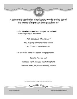 Rule 19: Comma Usage (Introductory Words and Names)