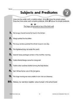 Rule 2: Subjects & Predicates