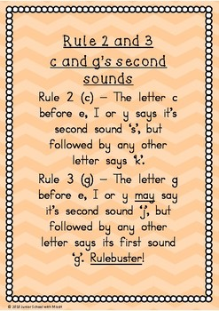 Rule 2 and 3 - c and g's Second Sounds (Write to Read)