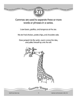 Rule 20: Comma Usage (Words in a Series)