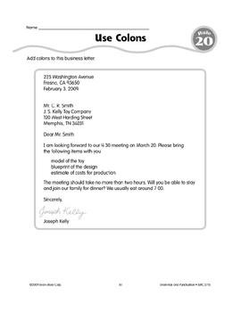 Rule 20: Commas & Colons