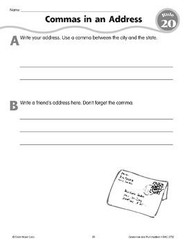 Rule 20: Commas Separate Dates & Addresses
