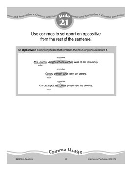 Rule 21: Comma Usage (appositives)