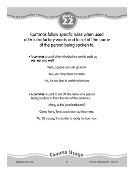 Rule 22: Comma Usage (Introductory Words and Names)