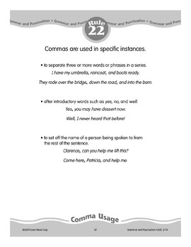 Rule 22: Comma Usage in Specific Instances