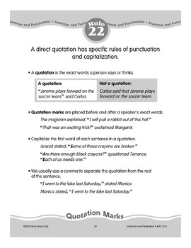 Rule 22: Direct Quotations (quotation marks, capitals, commas)