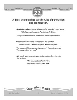 Rule 22: Quotation Marks