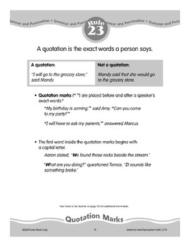Rule 23: Quotation Marks