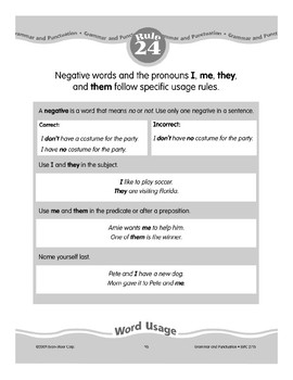 Rule 24: Word Usage (Negative Words/Specific Pronouns)