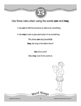 Rule 25: Word Usage (Can and May)