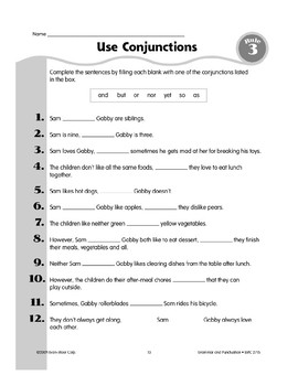 Rule 3: Conjunctions Join Words or Groups of Words