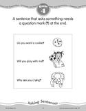Rule 4: Sentences--Asking Sentences End with a Question Mark