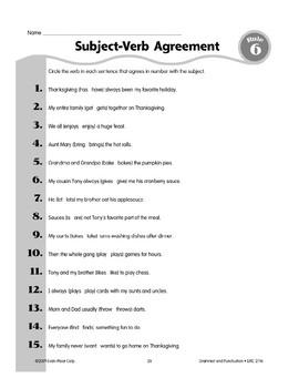 Rule 6: Three Kinds of Verbs