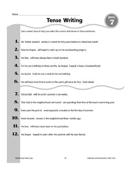 Rule 7: Verb Tenses (Present, Past, Future)