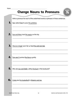 Rule 8: Subject & Object Pronouns
