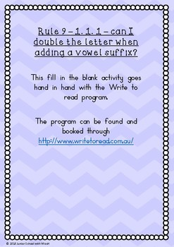 Rule 9 1.1.1 rule for doubling letters (Write to Read)