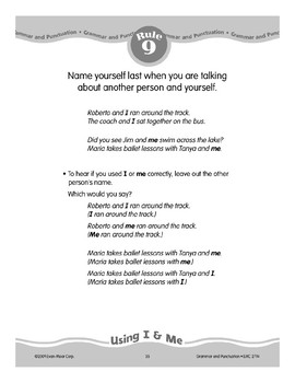 """Rule 9: Using """"I"""" & """"Me"""""""