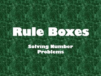 Rule Boxes - Problem Solving PowerPoint (Addition and Subtraction)
