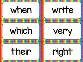 Rule Breaker Word Wall Cards - Rainbow