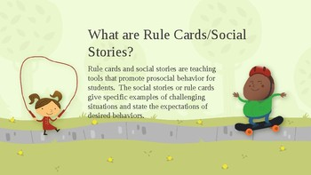 Rule Cards/Social Stories-Summer Edition