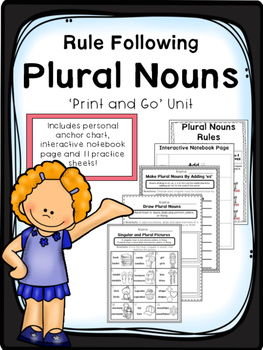 Rule Following Plural Nouns - Print and Go Unit