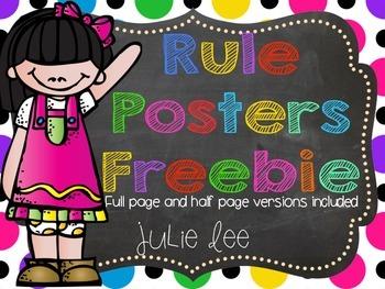 Rule Posters Freebie