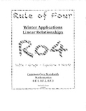 Rule of Four: Winter Packet Linear Rates 8.F 8.EE Common Core