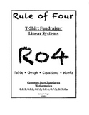 Rule of Four:TShirt Fundraiser 8.EE 8.F Common Core Linear System