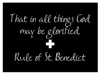 Rule of St. Benedict poster