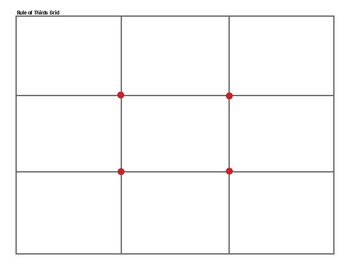 Rule of Thirds Grid (color)