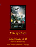 Rule of Three Eric Walters Quiz 1-15