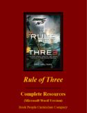 Rule of Three by Eric Walters Complete Unit